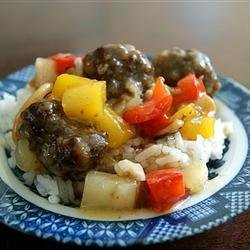 Lana's Sweet and Sour Meatballs recipe