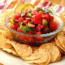 Watermelon Fire and Ice Salsa recipe