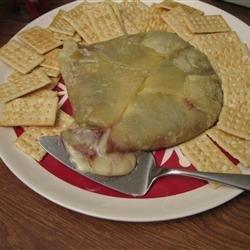 Raspberry Walnut Baked Brie recipe