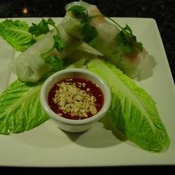 Thai Basil Rolls with Hoisin-Peanut Sauce recipe