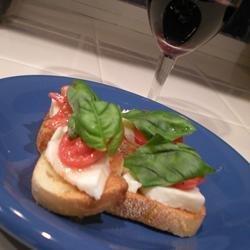 Crostini with Mozzarella and Tomato recipe