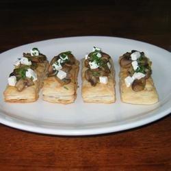 Mini Mushroom and Goat Cheese Tarts recipe