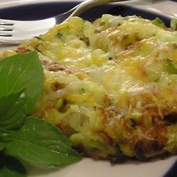 Zucchini and Onion Pancake recipe