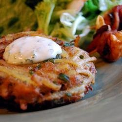 Crab and Noodle Cakes with Cilantro-Lime Mayonnaise recipe