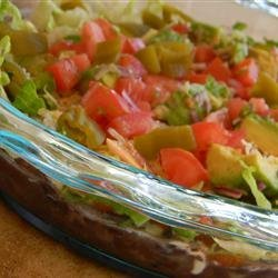 Manda's Seven Layer Taco Dip recipe
