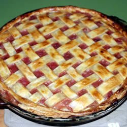 Fast Apple Rhubarb Pie recipe