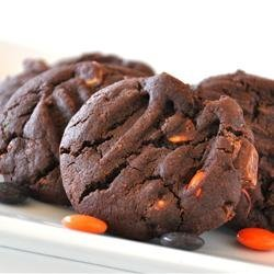Perfect Double Chocolate Peanut Candy Cookies recipe