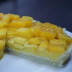 Mango Custard Pie recipe