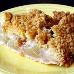 Apple Crunch Pie with Vanilla Sauce recipe