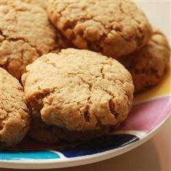 Peanut Butter and Bran Cookies recipe
