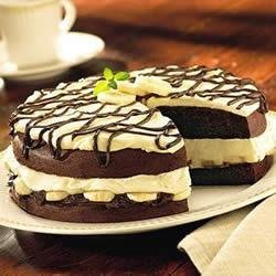 Chocolate Banana Cream Cake recipe