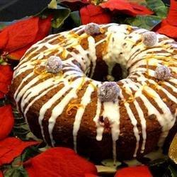 Olive Oil Cranberry Bundt Cake recipe