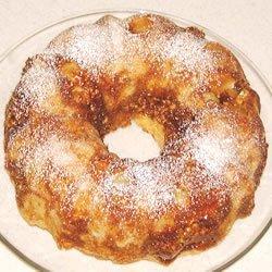 Sour Cream Pear Cake recipe