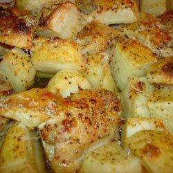 Parmesan Chicken and Potato Bake recipe