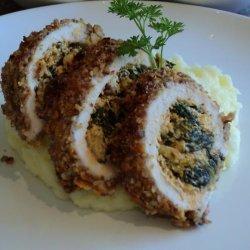Spinach-Artichoke Stuffed Pecan Crusted Chicken Breasts recipe