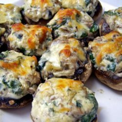 Mushrooms Stuffed With Spinach and Cheese recipe