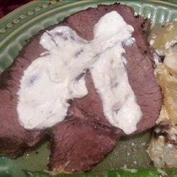 Crock Pot Roast Beef and Horseradish Sauce recipe