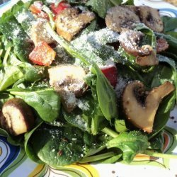 Warm Mushroom & Wilted Spinach Salad recipe