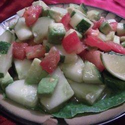 Cucumber Tomato Surprise Salad (Raw Recipe) recipe