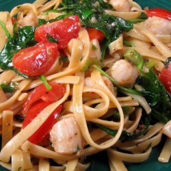 Scallops and Pasta Florentine recipe