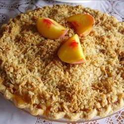 Peach Pie With Coconut Streusel recipe