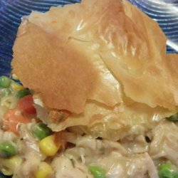 Chicken and Veggie Pie With Phyllo Top recipe