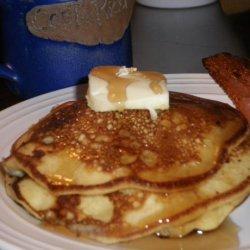 Lemon Buttercream Pancakes With Blueberries recipe