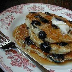 Blueberry Buttermilk Oatmeal Pancakes recipe