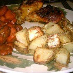 Roasted Potatoes With Whole Garlic, Lemon and Oregano recipe