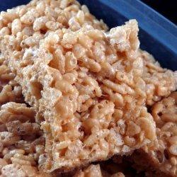 Lower Fat Peanut Butter Rice Krispies Bars recipe