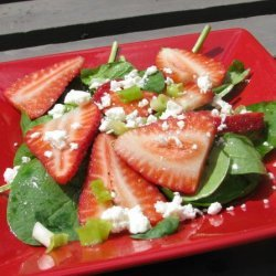 Spinach Salad With Strawberries and Feta Cheese recipe
