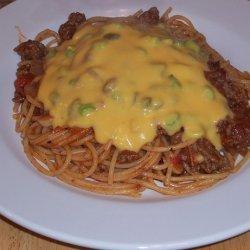 Cowboy Spaghetti With Cheese Sauce - Rachael Ray recipe