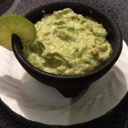 The World's Smoothest Guacamole With Sour Cream recipe