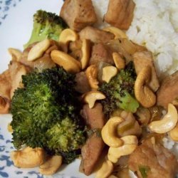 Stir Fried Pork With Broccoli and Cashews recipe