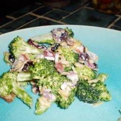 Broccoli With Cranberries Salad recipe