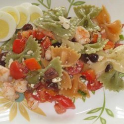 Greek Pasta Salad with Shrimp & Olives recipe