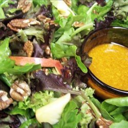Mixed Greens' Salad With Apples and Maple-Walnut Oil Dressing recipe