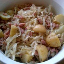 Leftover Ham & Cabbage Casserole recipe