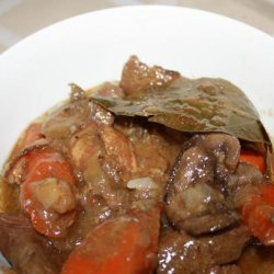 Crock Pot Venison Stew With Bacon and Mushrooms recipe