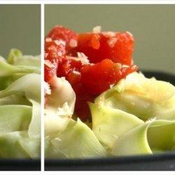 Zucchini  Pasta  with Fresh Tomato Sauce recipe