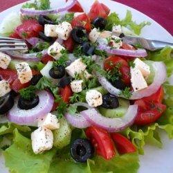 Kittencal's Greek Marinated Tomato, Olive and Feta Salad recipe