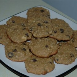 Whole Wheat Oatmeal and Chocolate Chip Cookies recipe