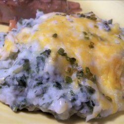 Mashed Potato Spinach Casserole recipe