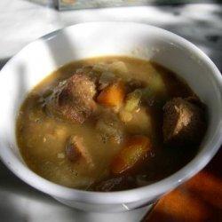 Crock Pot Lentil and Sausage Soup recipe