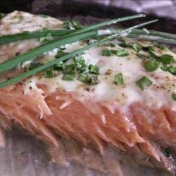 Salmon With Horseradish  Cream  recipe