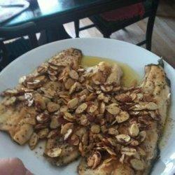 Lemon Trout Almondine recipe