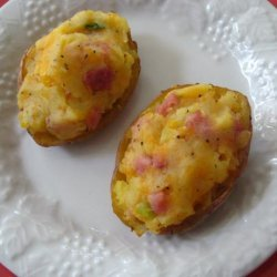 Ham and Cheese Stuffed  Potatoes recipe