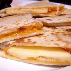 Apple Cheddar Quesadillas II recipe