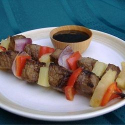 Ginger Beef and Pineapple Skewers recipe