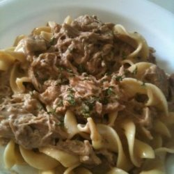 Crock Pot Pork Stroganoff recipe